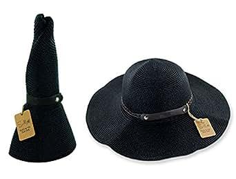 Amazon Com Sunlily Women S Roll N Go Sun Hat Black One