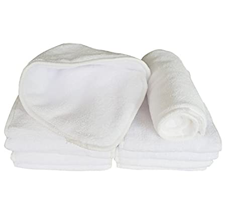 Ship from CA,US Babygoal Reusable Viscose from Bamboo Diaper Inserts Washable 3-Layer Liners for Cloth Diapers 15 Pack