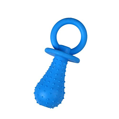 Kicode BigFamily Chew Toy Puppy Pacifier Shape Rubber Bite Resistant Play Props Random Color
