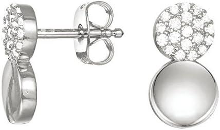 Esprit Ohrringe Damen Ohrstecker Spark Silber weiß Zirkonia ESER00841100
