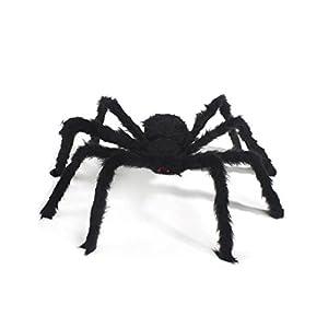 jbneg spider decorationshalloween spidersoutdoor halloween spiderhairy poseable spiderscary spider for halloween decorations 59 in - Spider Decorations
