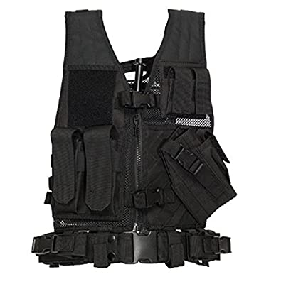 Lancer Tactical Youth Size CA-310KM Series Cross Draw Vest (BLACK)