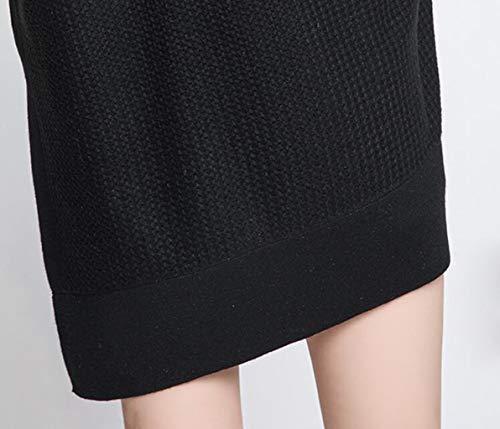 Maglione Maglione donna girocollo ampio Brown da e lunghe ampio a collo con maniche LJXWH d7Yxzqw5d