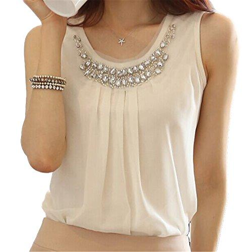 Femme Chemise - JIANGTAOLANG Women Summer Blouses New Chemise Femme Chiffon Blouse Plus Size White XXXL
