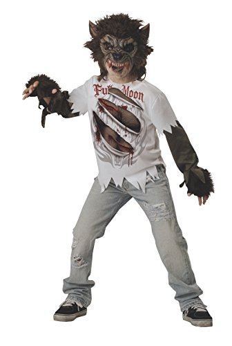 InCharacter Costumes Boys Werewolf Mask and Shirt Costume, Multi Color, (Werewolf Costumes)