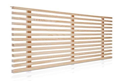 SUENOSZZZ-ESPECIALISTAS DEL DESCANSO Cabecero de Cama de 150 Modelo Osaka, Color Crudo 160x50 cm | Cabezal de palilleria de Madera