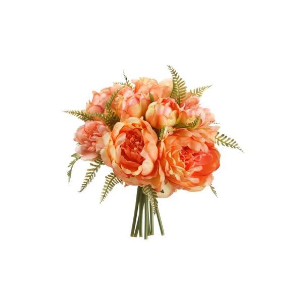 9.5″ Peony/Fern Bouquet Peach (Pack of 12)