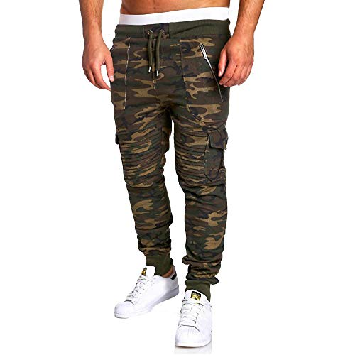 Spbamboo Mens Camouflage Fold Pocket Slim Fit Casual Sport Overall Trouser Pants by Spbamboo