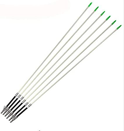 12pcs 32inches White 6mm Hunting Fishing arrows Archery For Compoud Bow
