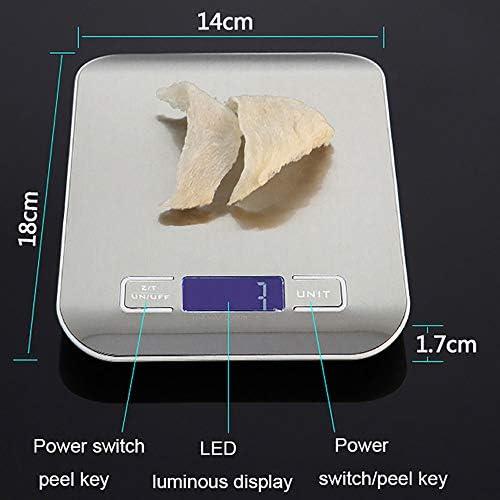 LSSLSS Edelstahl Flache Elektronische Waage/Konditorei Backwaage/Mini Food Home KüChe Elektronische Waage. HochpräZise Blaue Hintergrundbeleuchtung,1-g-5-kg