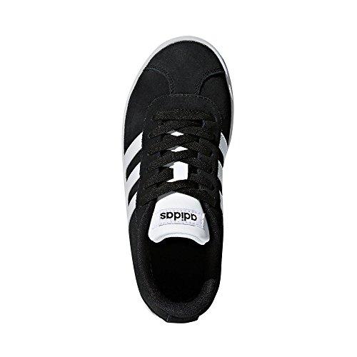 adidas VL Court 2.0 K, Zapatillas de Deporte Unisex Niños Negro (Negbas/Ftwbla/Negbas 000)
