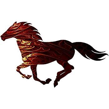 Amazon Com Young S Laser Cut Triple Horse Metal Wall Art