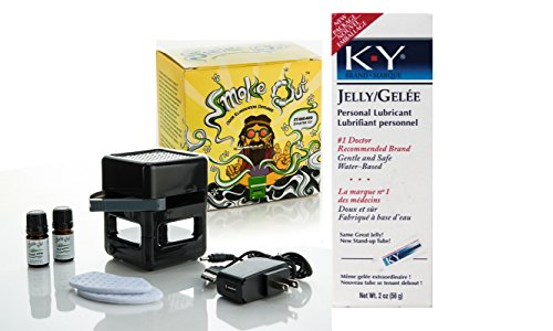 Bundle Package Of Smoke Out Odor Eliminating Diffuser DP And a K-Y Jelly 2oz. Tube by SI Novelties