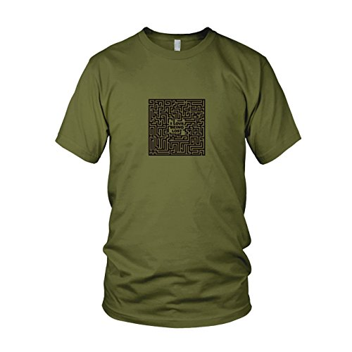 Love Being Lost - Herren T-Shirt, Größe: XXL, Farbe: army