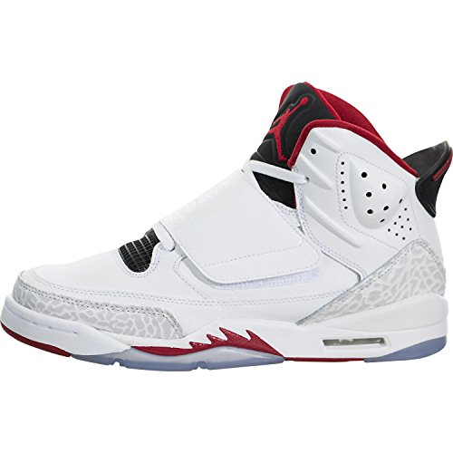 Air Jordan Son Of Mars(4.5 M US Big Kid) White/Black/Pure Platinum/Gym Red (4 Jordan Mars)