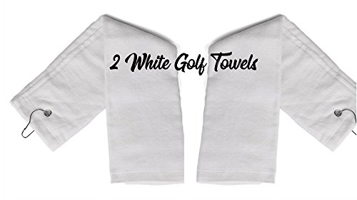 - Show Car Guys 2 - White Tri-Fold Cotton Golf Sports Towels With Grommet - Includes Metal Clip, 16