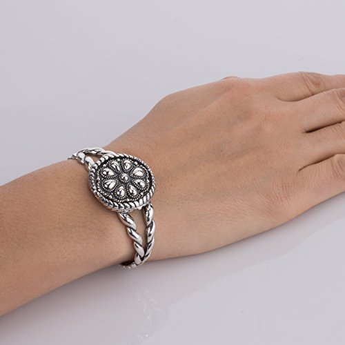 American West Genuine .925 Sterling Silver Interchangeable Cuff Bracelet by American West (Image #2)