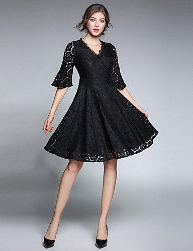 Partido Un Mujer La Vestido Línea De Fiesta Vestido Negro Mujer JIALE3536 Fiesta De De wzgq1nXFx