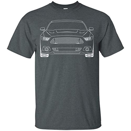WheelSpinAddict Men's Mustang S550 2015-2017 T-Shirt Dark Heather