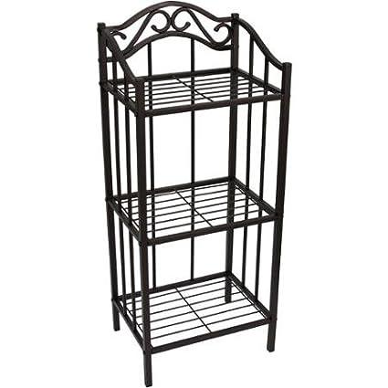 Amazon.com: Chapter Decorative Bathroom Floor Standing Storage Metal ...