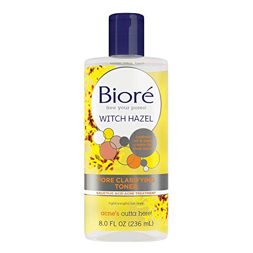 Sensitive Skin Toner - Biore Witch Hazel Clarifying Toner, 8 Ounce