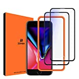 ZOVER Anti Blue Light Screen Protector Compatible with iPhone 8 Plus 7 Plus 6S Plus 6 Plus, Eye Protect Blocks Excessive Harmful Blue Light, Anti-Blue Light Protective Film for 5.5 inch, 2 Pack-Black