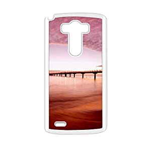 Brown Sky And River Bridge White Phone Case for LG G3