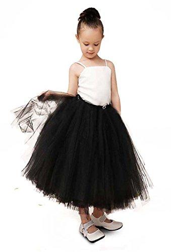 Alicorn Girl's Black White Princess Strappy Tutu Dress for Party Wedding M - White Party Dress Ideas