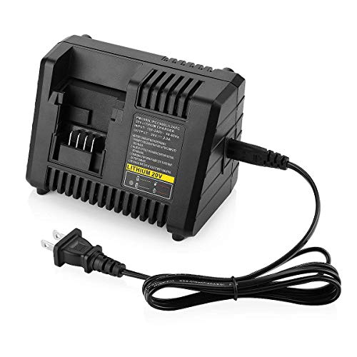 Powilling Fast Charger Replacement For Porter Cable 20V Max Lithium-Ion Battery and Black & Decker 20V Lithium-ion Battery PORTER-CABLE PCC692L BDCAC202 LB20 LBX20 LBXR20 LST220 PCC675L PCC680L