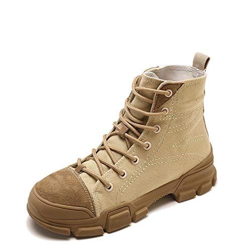 Shukun High-Top-Stiefel Stiefeletten High-Top-Militärstiefel Damen High-Top-Stiefel Shukun schöne Straße 19d565