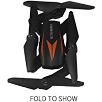 Inverlee Florld F12W 2.4G Wifi FPV Foldable RC Quadcopter with 0.3MP High-Definition Camera Headless Mode (B)