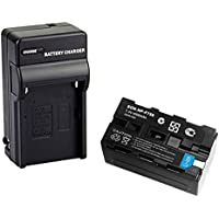 D&F NP-F750 Li-ion Replacement Battery and Recharge Charger for Sony NP-F750 NP-F770 Camcorder LED Video Light