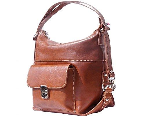 Sac Leather Florence femme au Noir à 207 foncé Bleu porté Peau dos noir pour 061 main wEwzBqgd