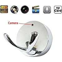 Mengshen HD 1080P Wide-angle Lens Clothes Hook Design Spy Hidden Camera Coat Hanger DVR Video Recorder For Home Security Nanny Cam MS-HC33Silver