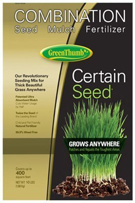 Barenbrug USA Green Thumb 22222 Premium Certain Seed Combination Fertilizer and Mulch, 10-Pound by Barenbrug
