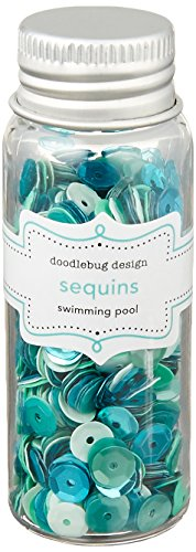 (Doodlebug Kraft in Color Assorted Sequins, Swimming Pool)