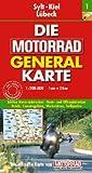 Motorrad Generalkarte Deutschland Sylt, Kiel, Lübeck 1:200 000