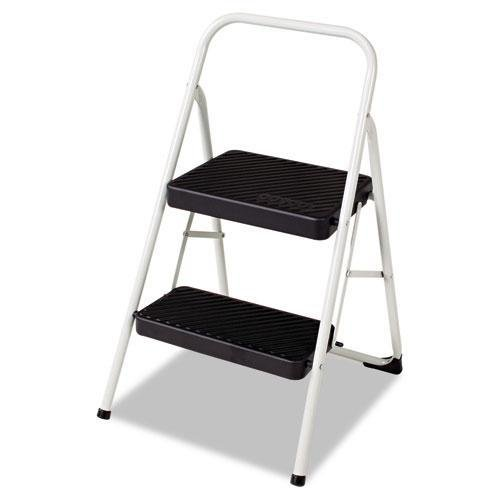 Bridgeport 11135CLGG1 2-Step Folding Steel Step Stool, 200lbs, 17 3/8w x 18d x 28 1/8h, Cool Gray