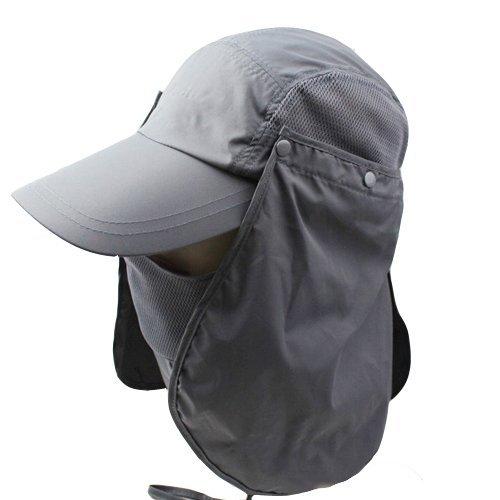 3dc61b0002d 3CERA® Outdoor 360 UV protection Sun block hat Folding visor fishing Nylon  Cap hiking (grey). kilofly UV Protection Bendable Wide Brim ...