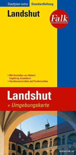 Falk Stadtplan Extra Standardfaltung Landshut