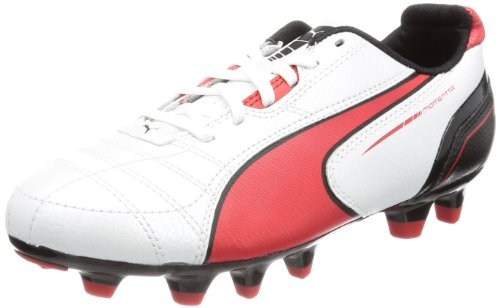Puma - Botas de fútbol infantil Blanco (Weiß (metallic white-high risk 05))