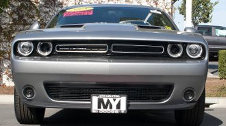 2015-2018 Dodge Challenger with Adaptive Cruise STO N SHO Quick-Release Front License Plate Bracket by StonSho (Image #2)