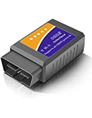 Temfly OBD2, OBD2 WiFi Diagnosis Coche Auto Diagnóstico OBDII Diagnostico Coche Conectado con iOS, Android, Windows-Conveniente para La Mayoría de Los Coches