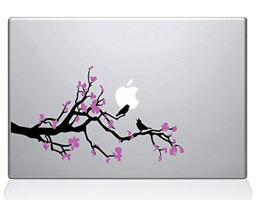 (The Decal Guru Cherry Blossom Branch MacBook Decal Vinyl Sticker - 13