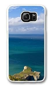Beautiful sea landscape Custom Samsung Galaxy S6/Samsung S6 Case Cover Polycarbonate White