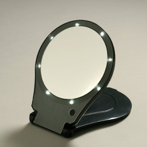 Floxite Lighted Travel Amp Home Folding 10x And 1x Mirror