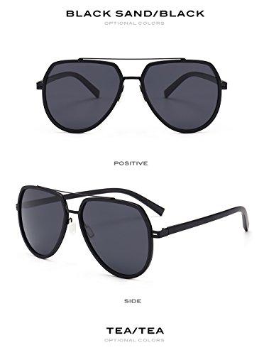 Male Azul Recubrimiento de de polarizadas Negro Gafas para de Flexibles Aviador los Hombres vidrios Nueva la Mate Sol Conducci¨®n Sun TR90 de Flat Pynxn Gafas Mercurio de Top de xAFgAP