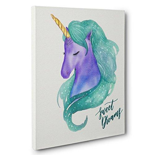 Sweet Dreams Unicorn CANVAS Wall Art Home D cor