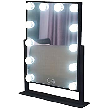 Amazon Com Chende Black Hollywood Lighted Makeup Vanity