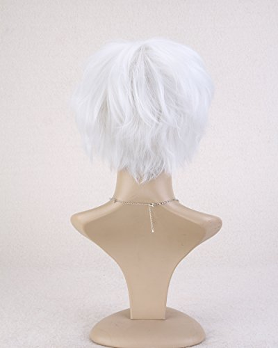 Easy To Do Celebrity Costumes (Cool2day® Short Straight Layered Heat Resistant Hair for Cosplay Wig Jf1409-white)